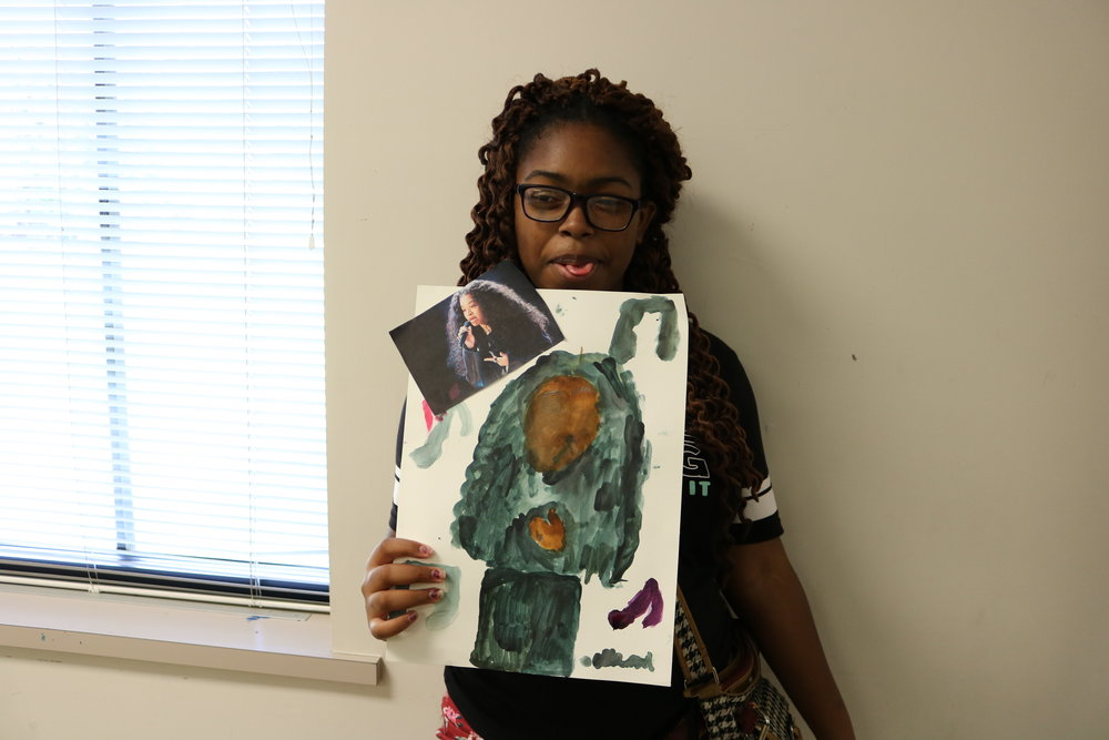 Asya: I did a watercolor of Ella Mai because I enjoy her music. -