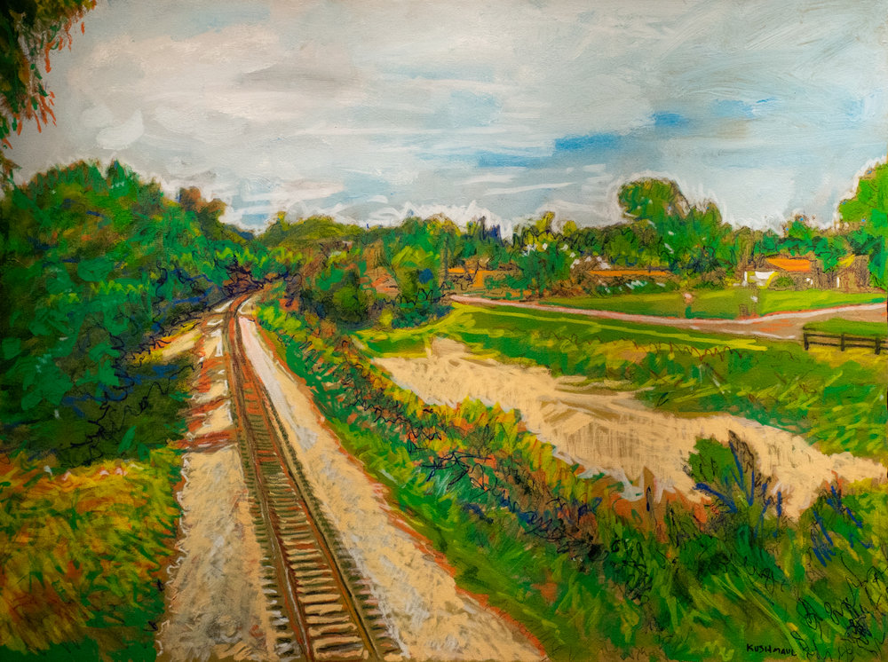 "John Kushmaul, ""Redfield Tracks Looking North"""