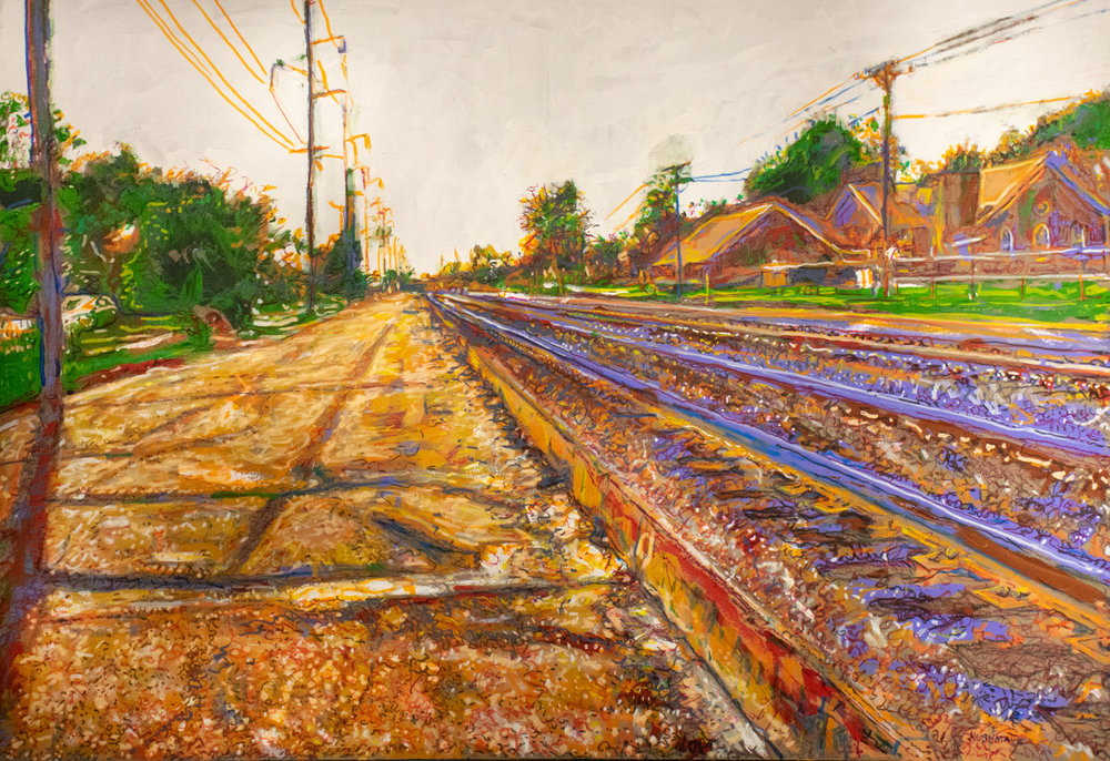 "John Kushmaul, ""Tracks Through Downtown Pine Bluff"""