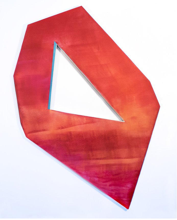 shaped1  by Dustyn Bork is one of the works featured in Bork's solo show, now on display in the Kennedy Gallery.