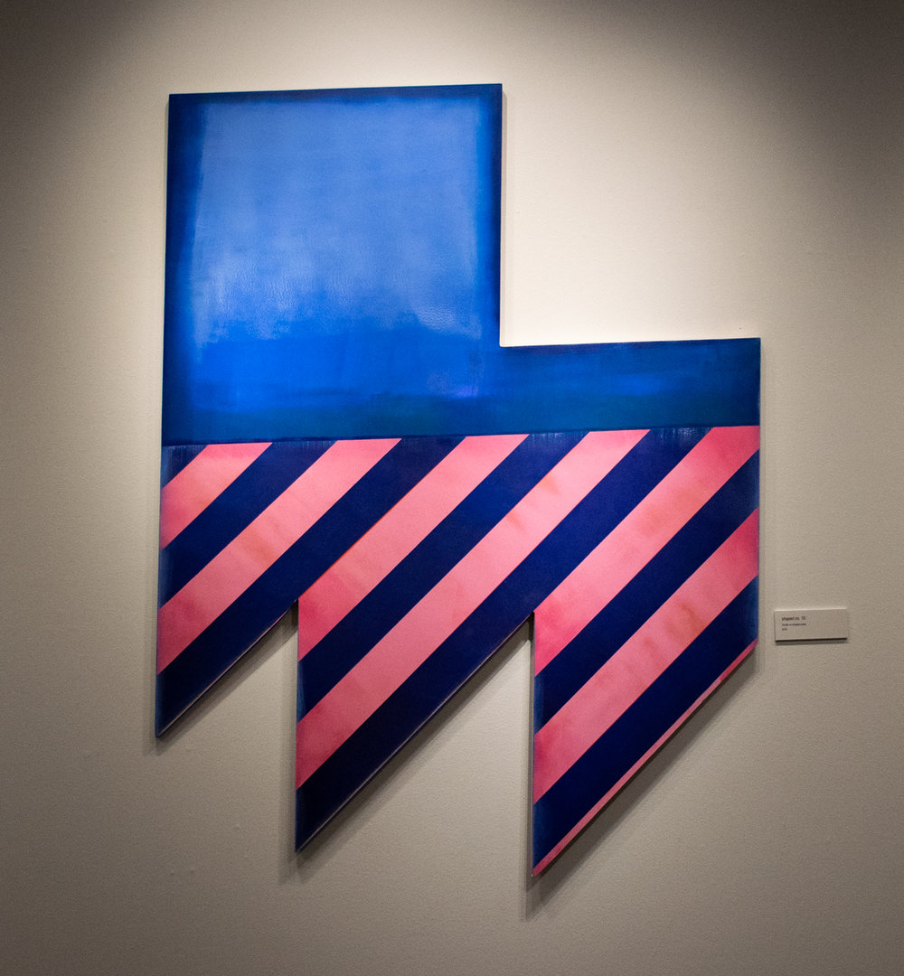 shaped no. 10  by Dustyn Bork, acrylic on shaped panel