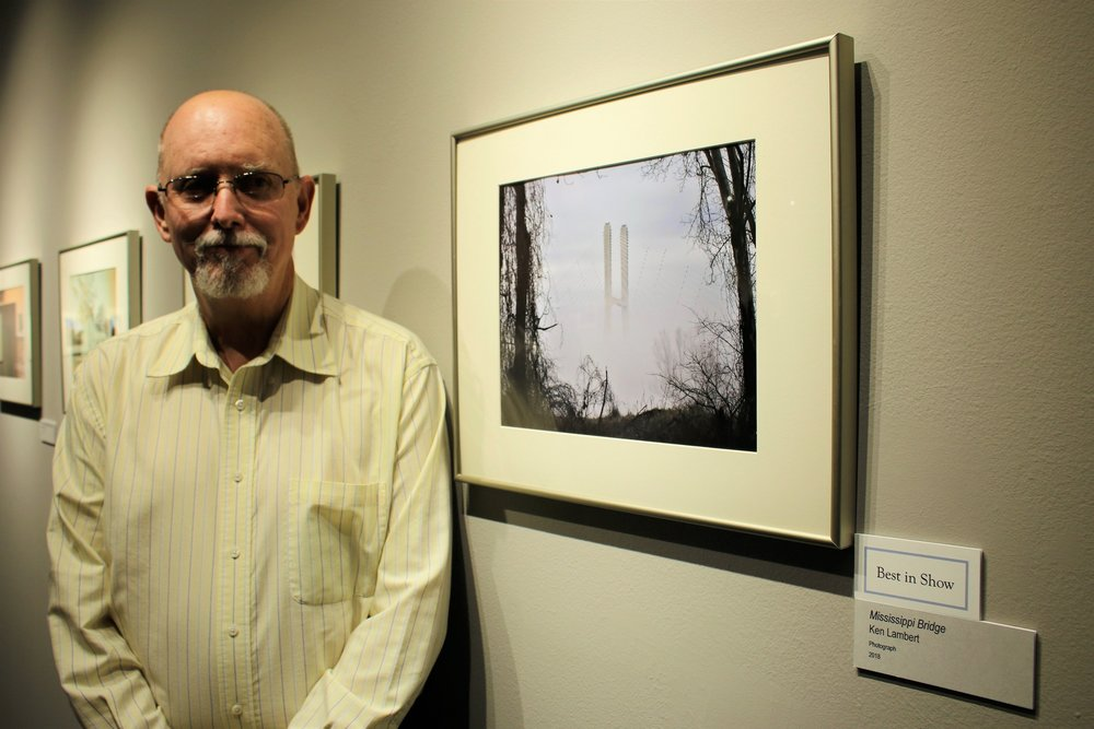 Ken Lambert, his photo Mississippi River took Best in Show.JPG