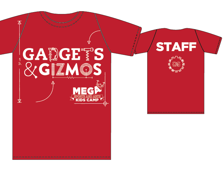 ALL CAMP STAFF WILL RECEIVE A STAFF T-SHIRT, INCLUDED IN THE VOLUNTEER REGISTRATION FEE.
