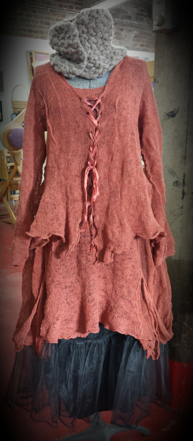 Cayenne corset cardi layered over one off Gatsby dress.
