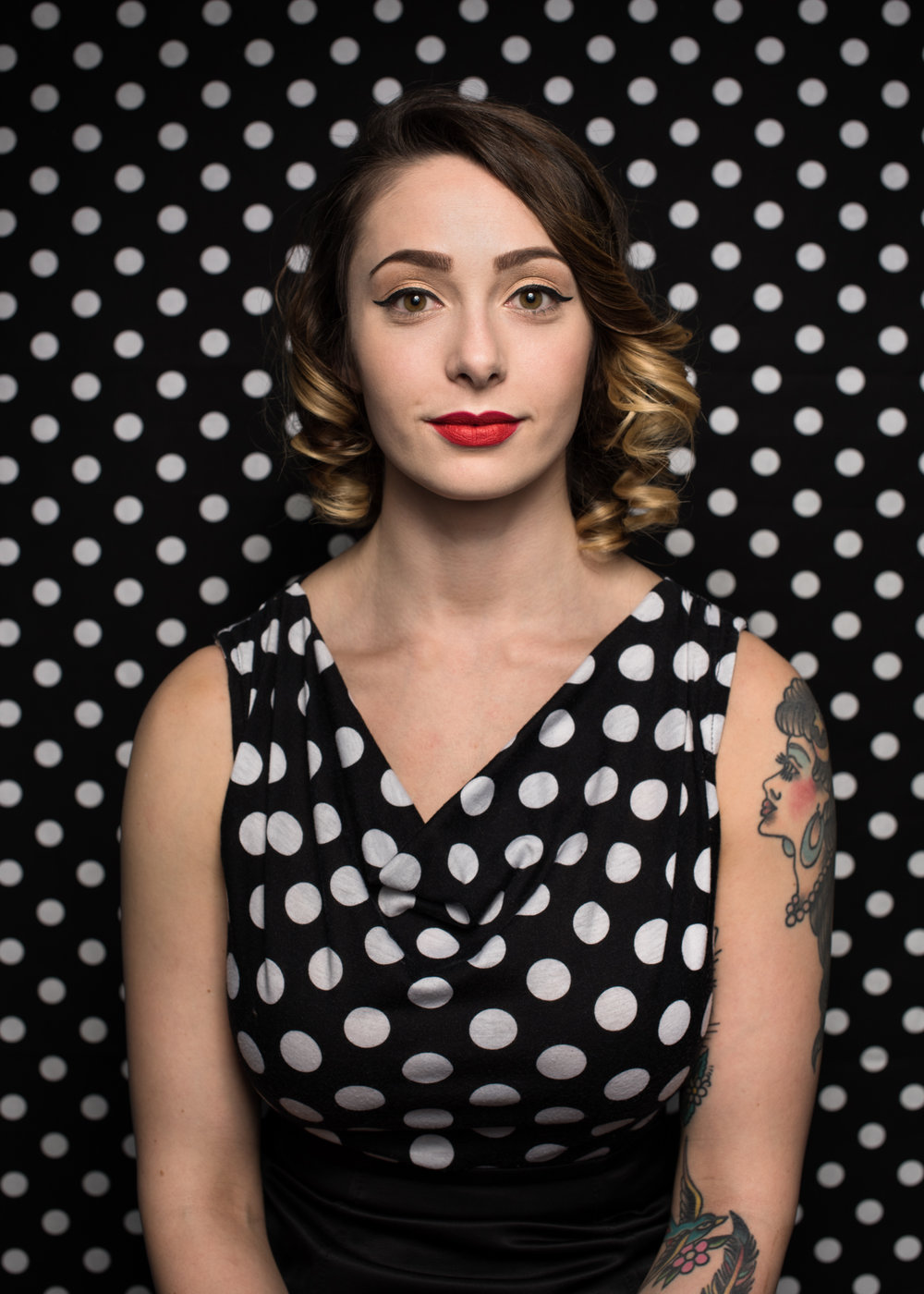 Polka dot portrait