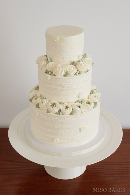 wedding cake with buttercream misobakes 26843