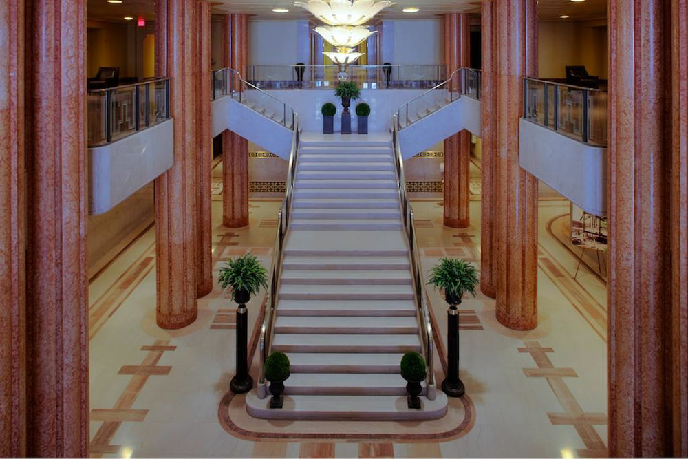 restored lobby of paramount beacon - jersey city, nj