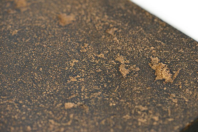 Black Textured - Gold Inlay