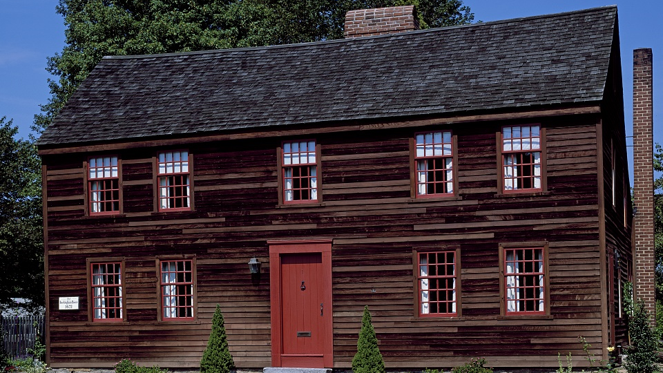 Yale University was founded in 1701 at the salt box-style  Buckingham House  in Old Saybrook, Connecticut (Source:  Library of Congress )