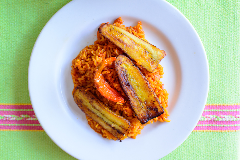 Shrimp rice with caramelized plantains / Yu Ne Nisa, Oaxaca, Mexico