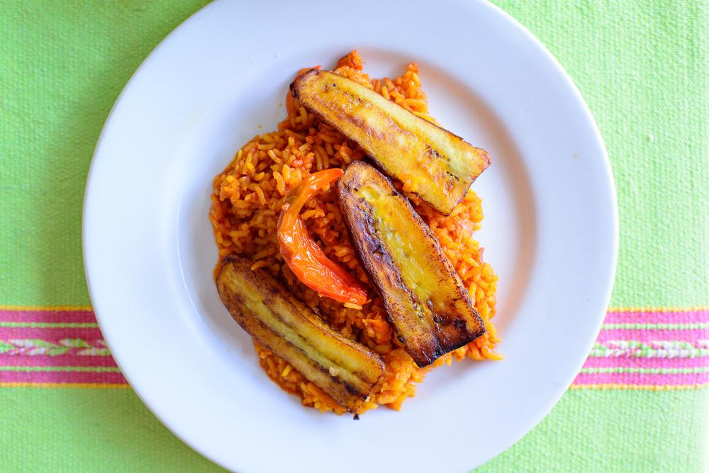 Shrimp rice with caramelized plantains / Yu Ne Nisa, Oaxaca, Mexico