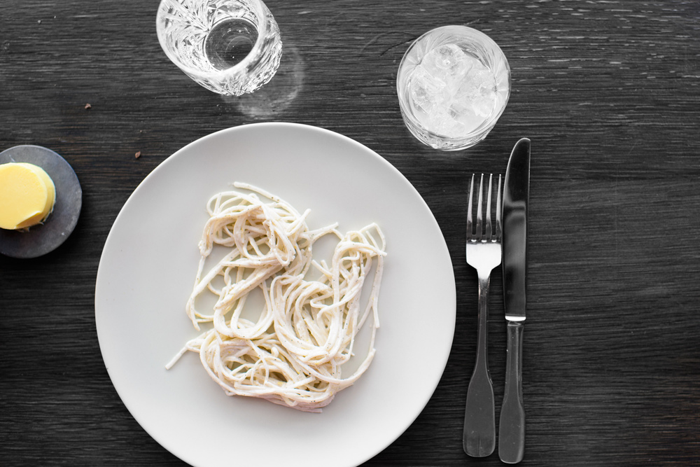 White Radish, Creamy Oysters, Black Pepper / Geist, Copenhagen, Denmark