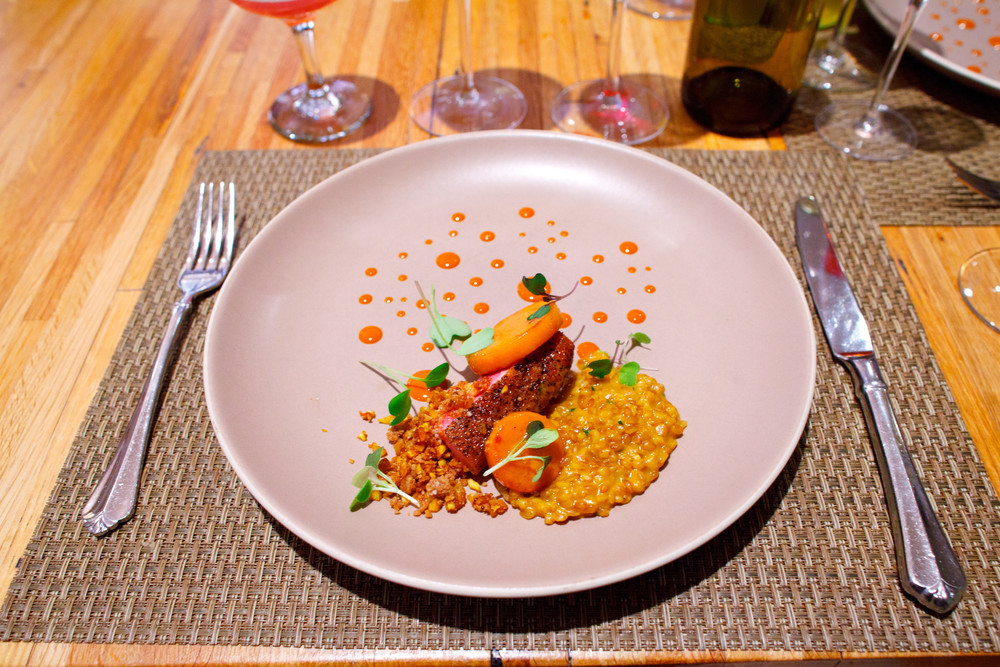 Husk, South Carolina - North Carolina duck breast with sweet potato farro, lacinato kale and bourbon-apple brown butter