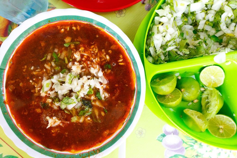 Birria El Zalate, San Jose del Cabo, Mexico - Birria de lengua de res (beef tongue stew)