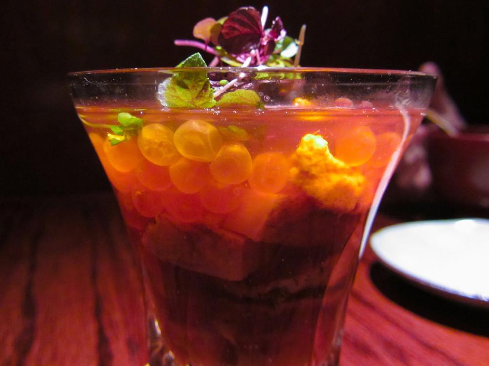 Donguri, New York - Sea urchin, abalone, ikura cocktail