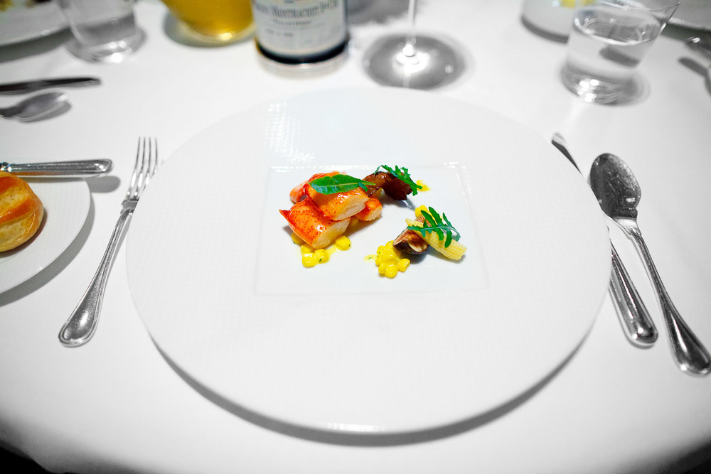5th Course - Sweet Butter-Poached Maine Lobster Tail, Fennel Bulb, Mission Fig, Marcona Almonds and Aged Balsamic Vinegar