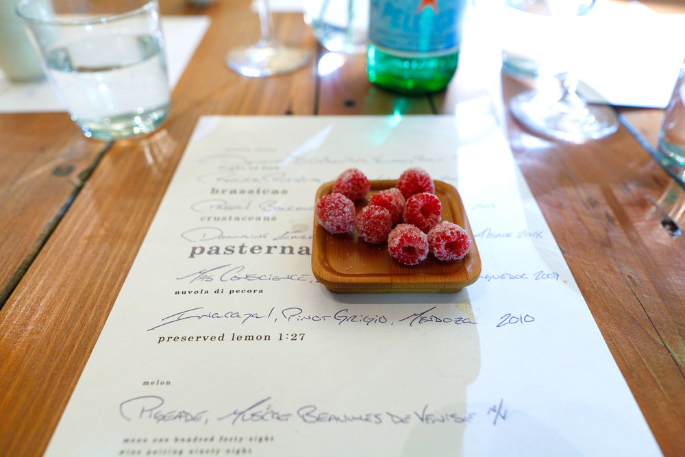 Petits Fours, Candied raspberries