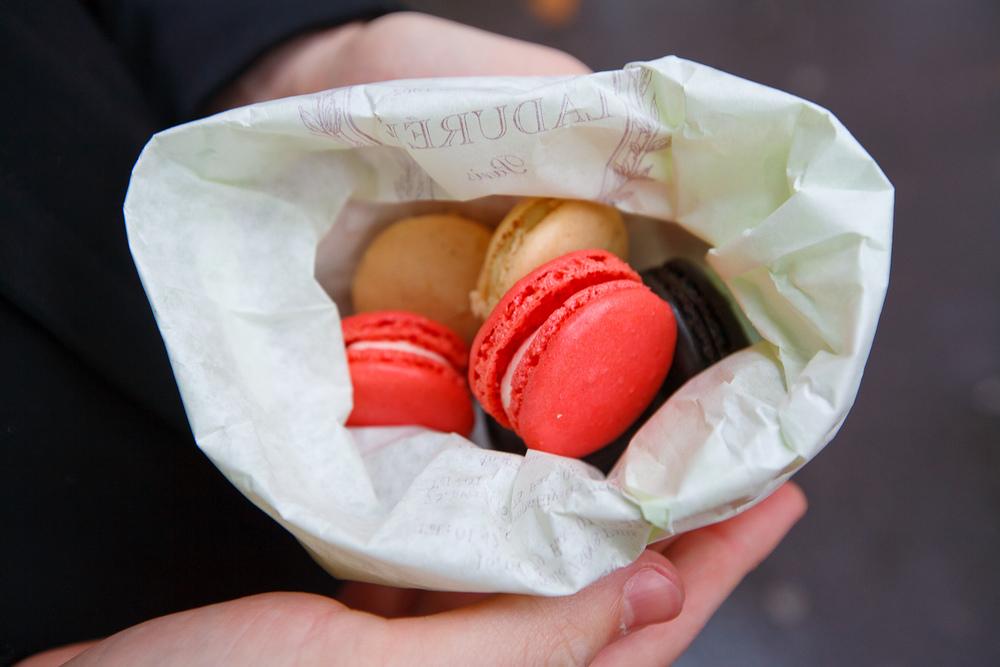 Rose, Vanilla, and Licorice Macarons