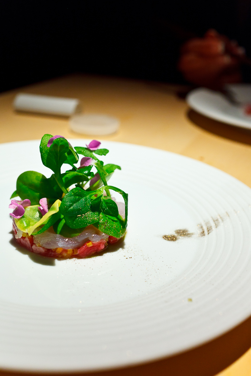 L2O, Chicago - Lamb tartar, shiro ebi, tarragon, pickled mango