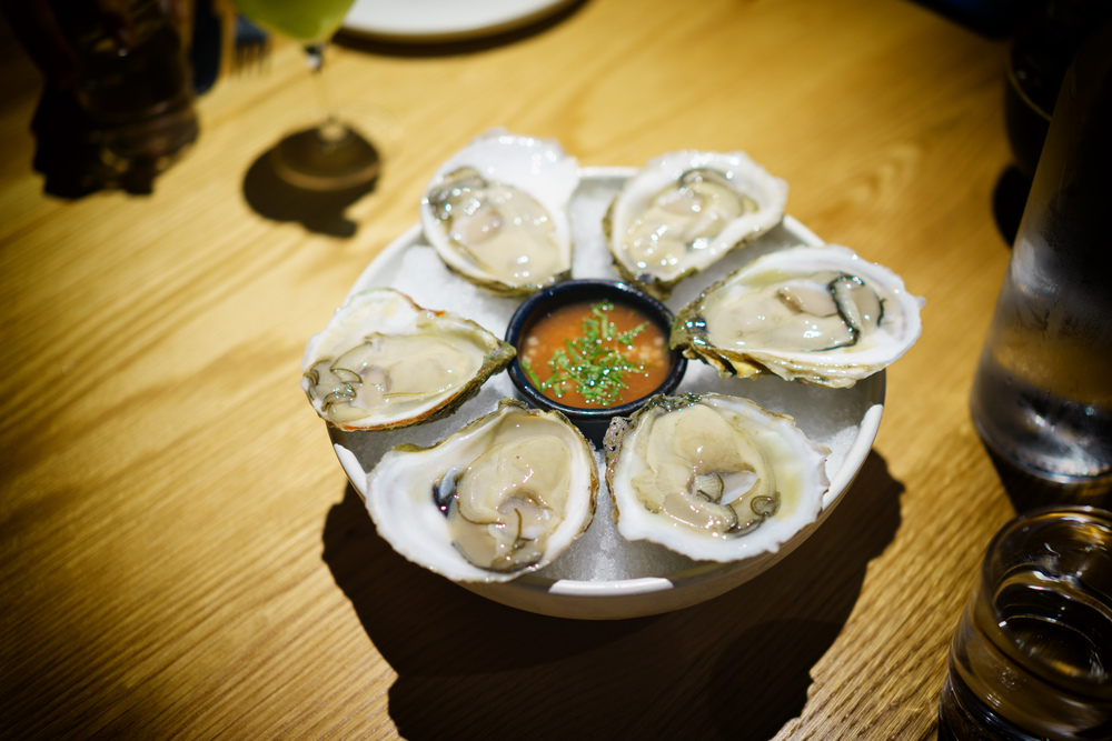 Oysters and sangrita ($13)