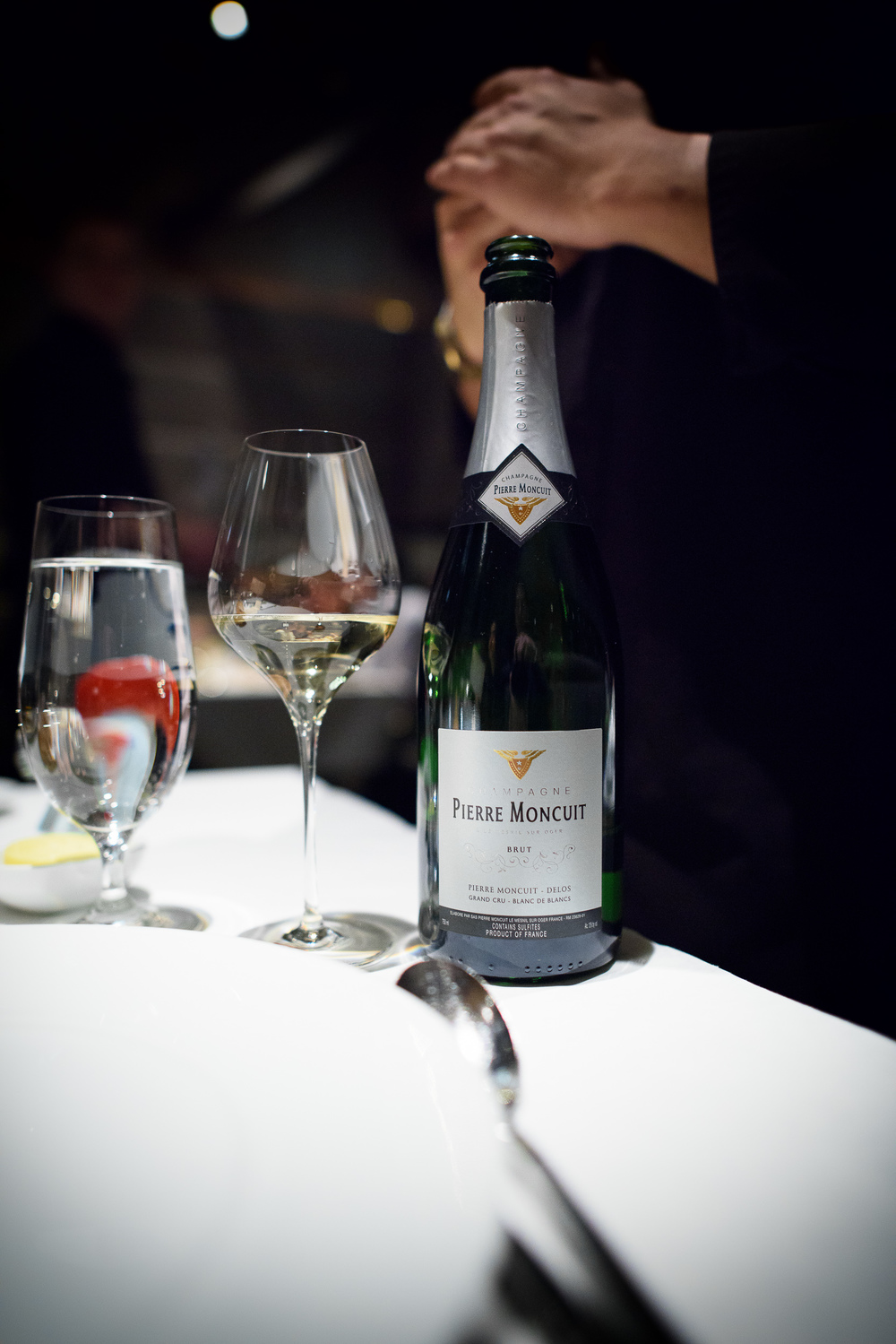 """Pierre Moncuit """"Delos"""" Blanc de Blanc Brut Champagne, NY"""