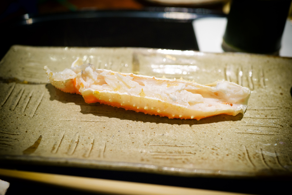 9th Course: Upper part of crab legs