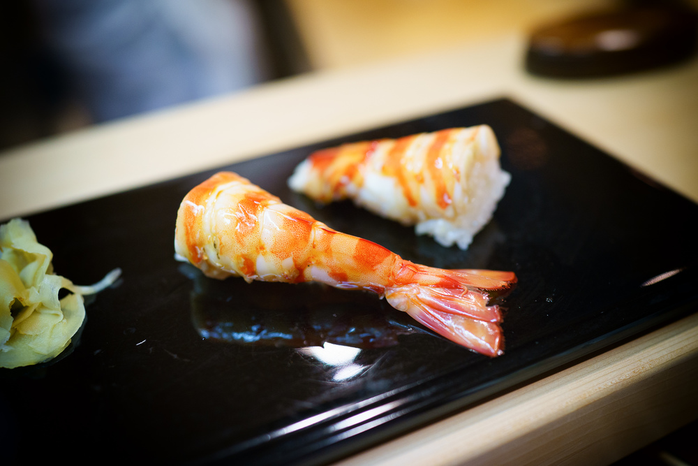 14th Course: Kurumaebi (tiger prawn)