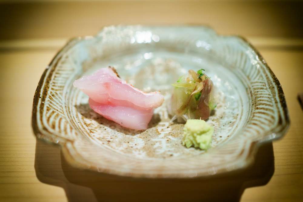 2nd Course: Kohada (tilefish) in roe sauce