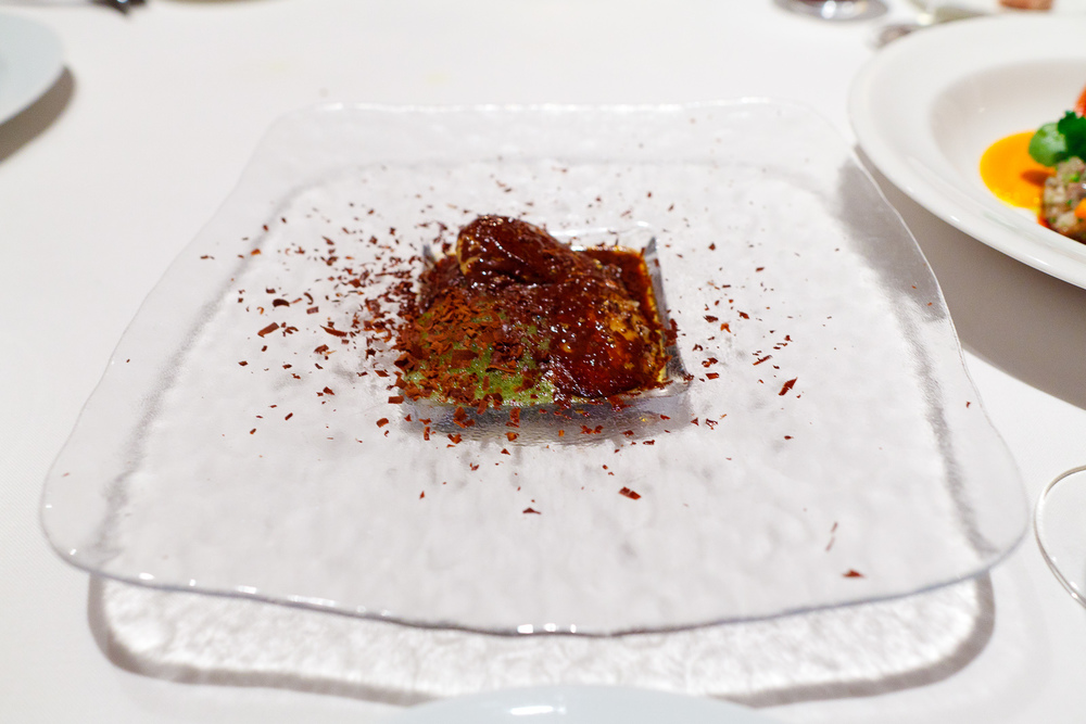"Hisop, Spain - ""After eight"" foie gras"