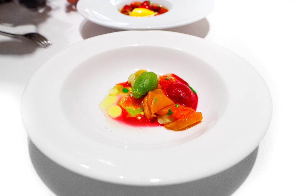 Hisop, Spain - Peach salad with beets