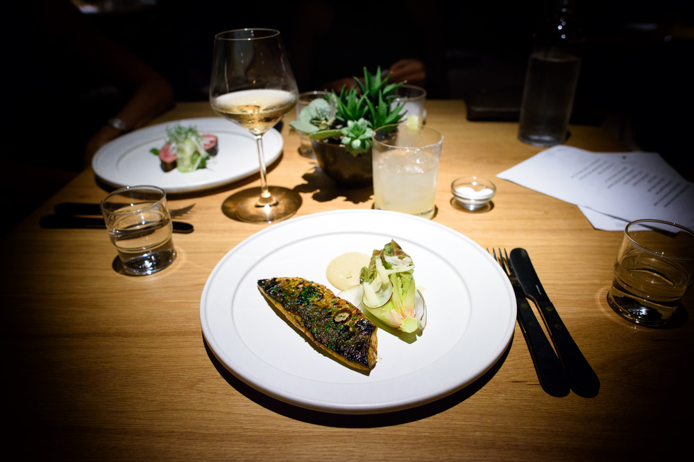 Boston mackerel, kohlrabi, caesar