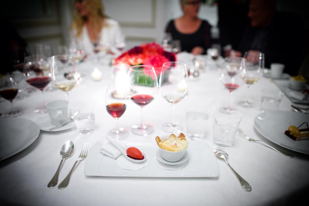 7th Course: Crepe soufflee belle epoque, sorbet a la frambroise