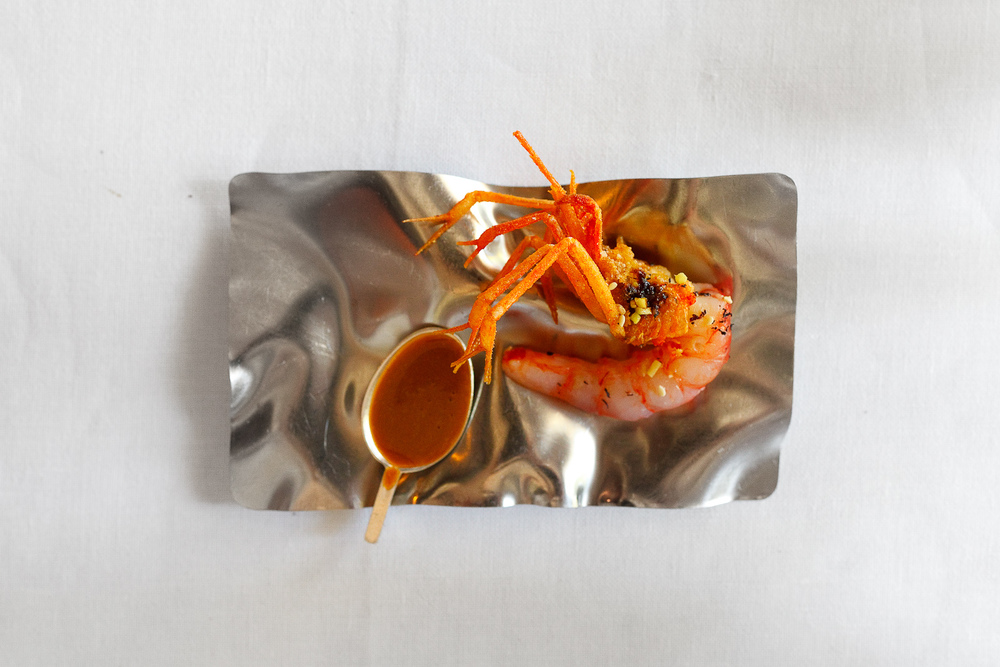 El Bulli, Spain - 17th Course: Two cooking prawn