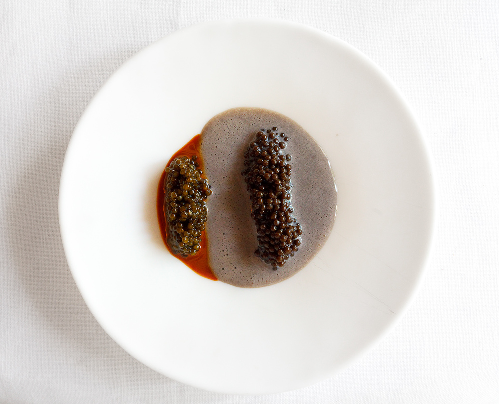 El Bulli, Spain - 23rd Course: Caviar cream with hazelnut caviar