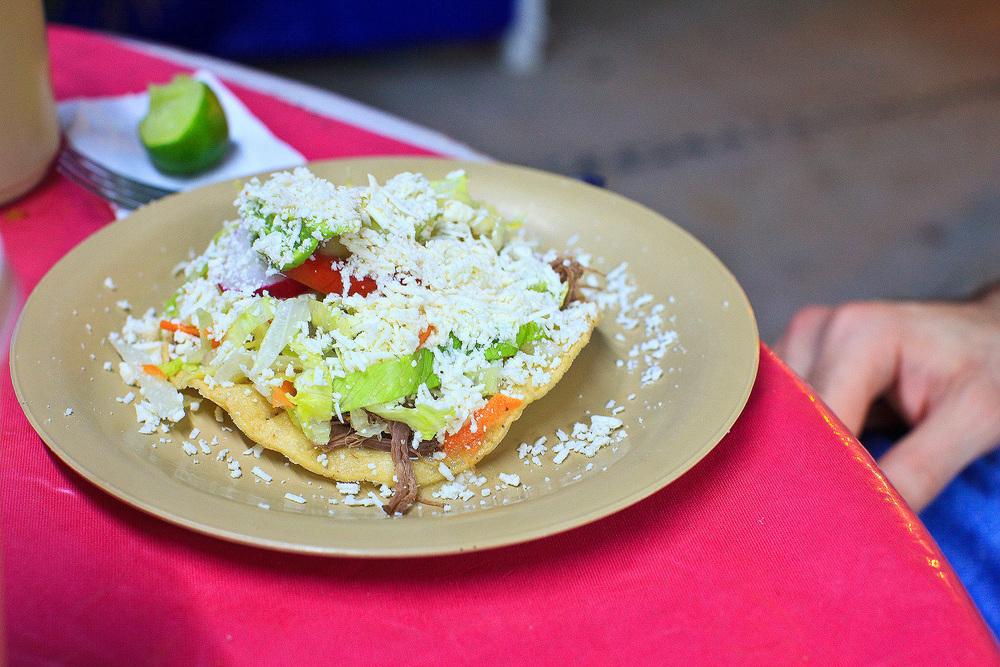 Cenaduría Sinaloense la Espiguita, San José del Cabo, México - Tostada de carne