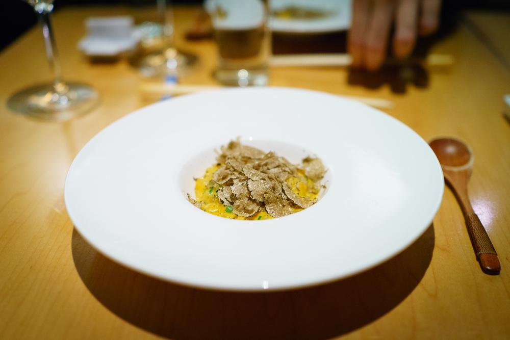 Hokkaido uni porridge with white truffle