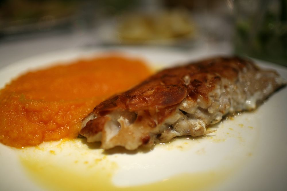 Grilled Trout with Pumpkin Purée