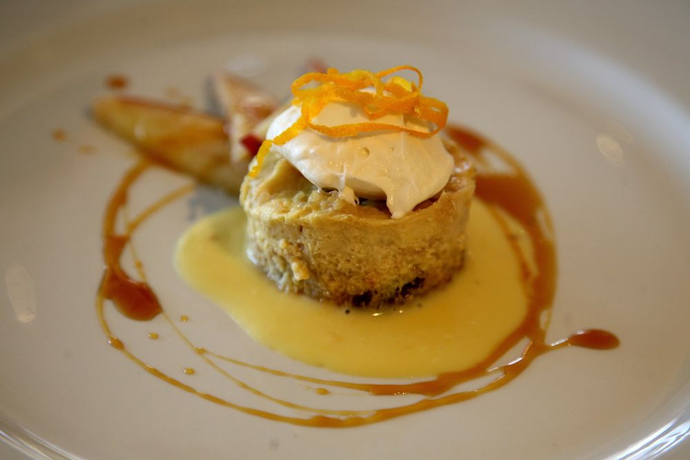 Quinoa Bread, Roasted Apple Cake with Hesperidina and Caramel Sauce