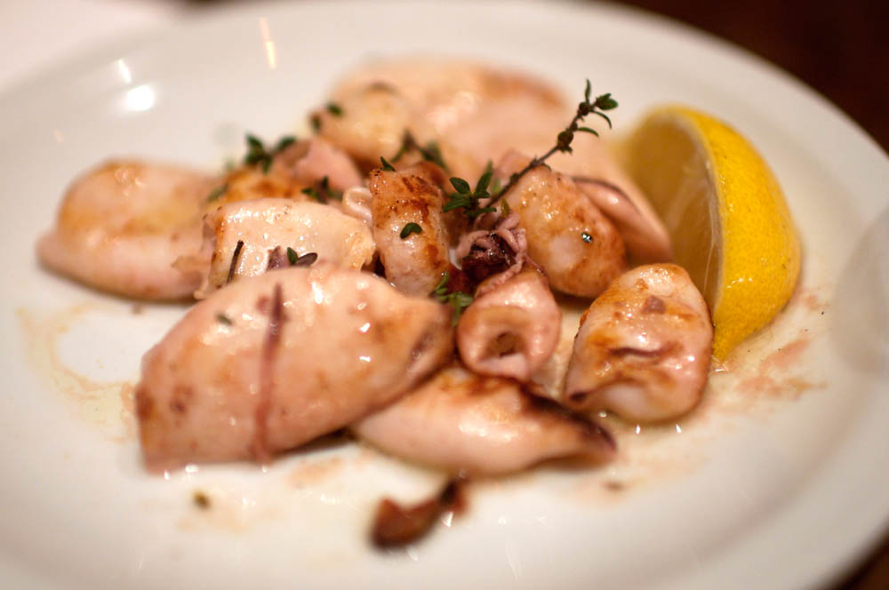 Calamari Marinated in Thyme, Garlic, and Lime Juice