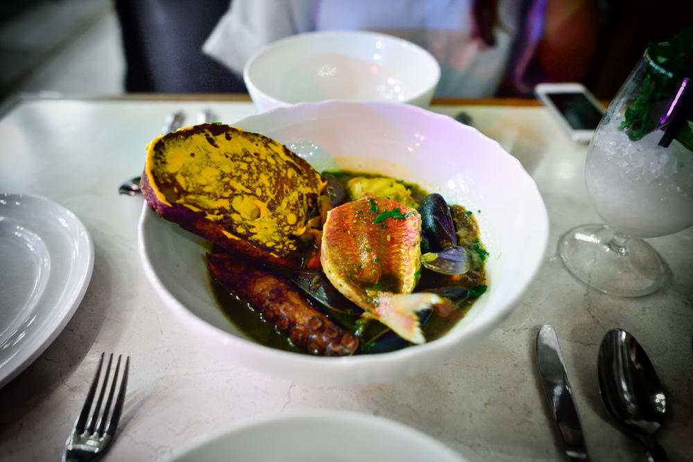 Bouillabaisse Noire - Rouget, octopus, rouille ($37)