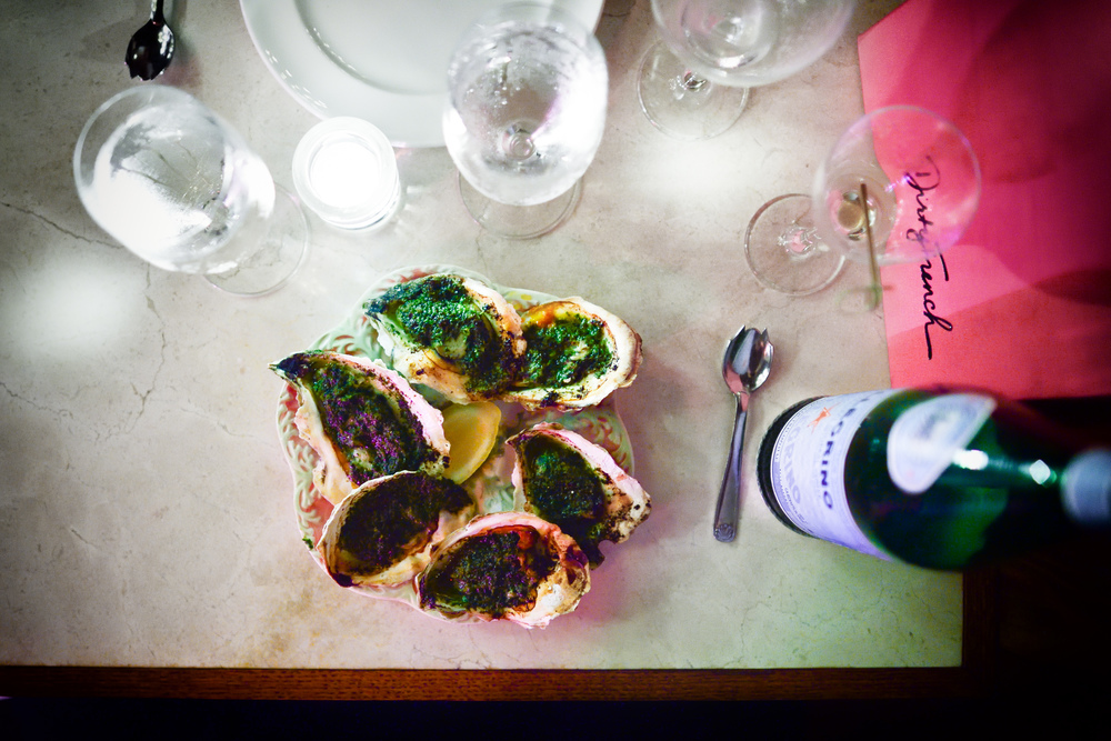 Island Creek Oysters in butter and herbs