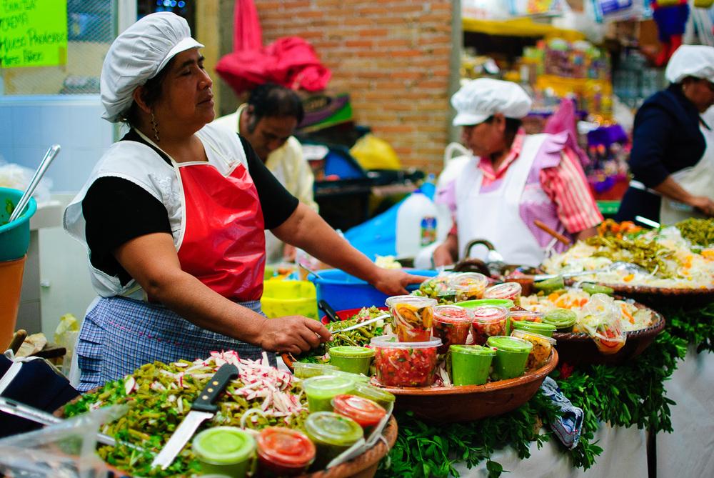 Mercado de Cholula - Salsas y Tostadas