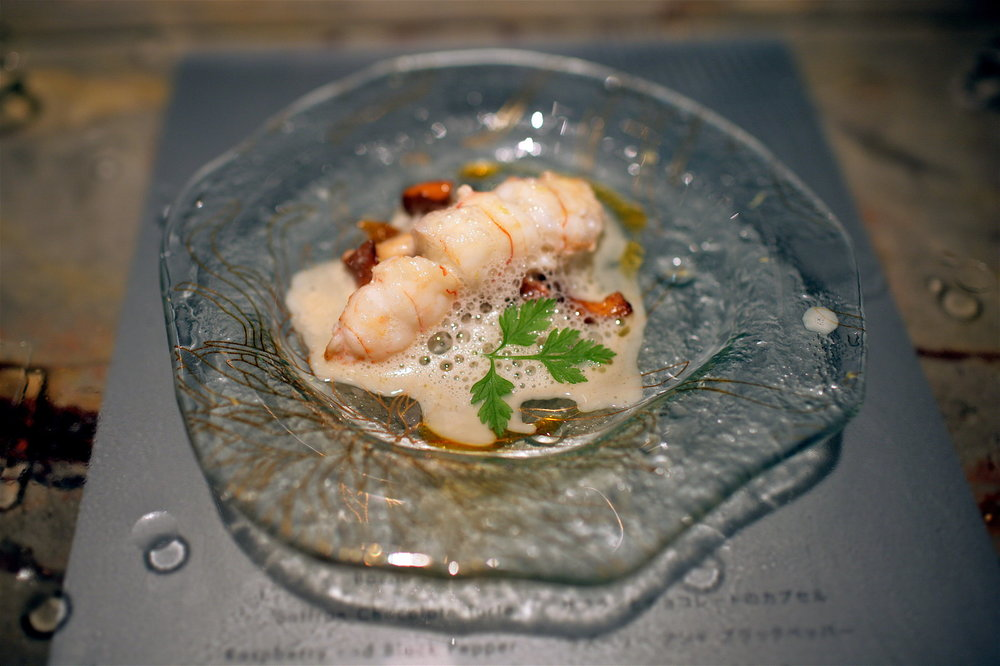 Tapas Molecular Bar - Langoustine and Mushrooms