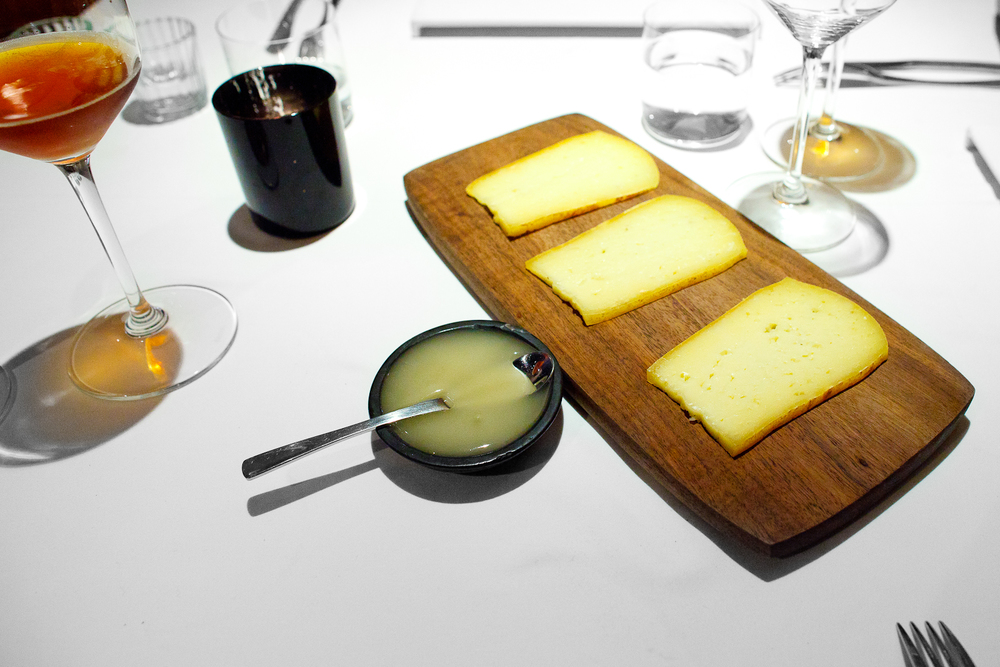 6th Course: Panela cheese aged for 1 year, local honey