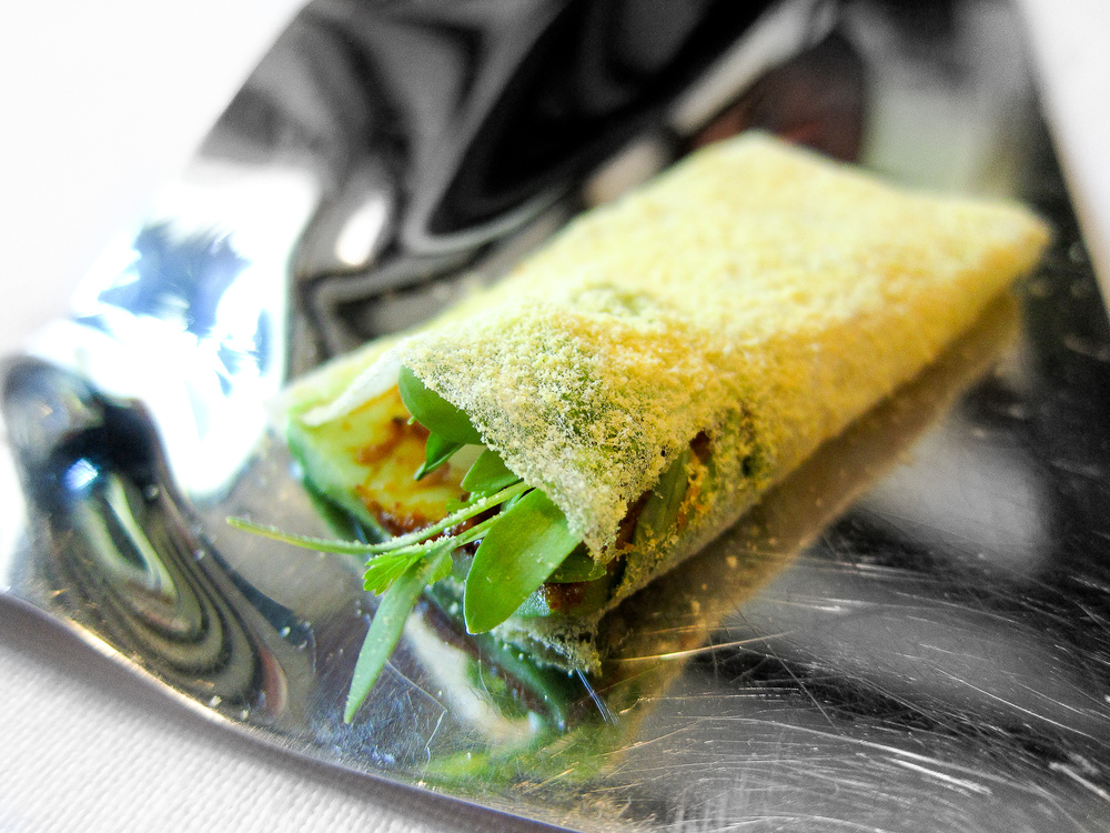 El Bulli - Oaxaca Taco, Sweet Corn Tortilla