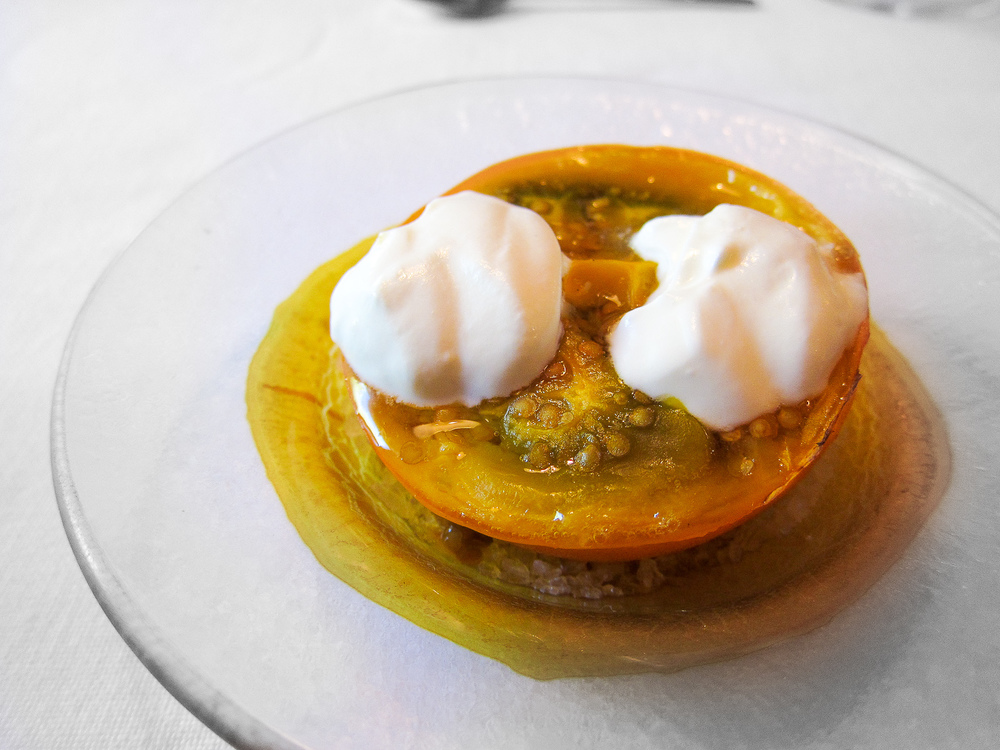 El Bulli - Grilled Lulo with Creme Fraiche