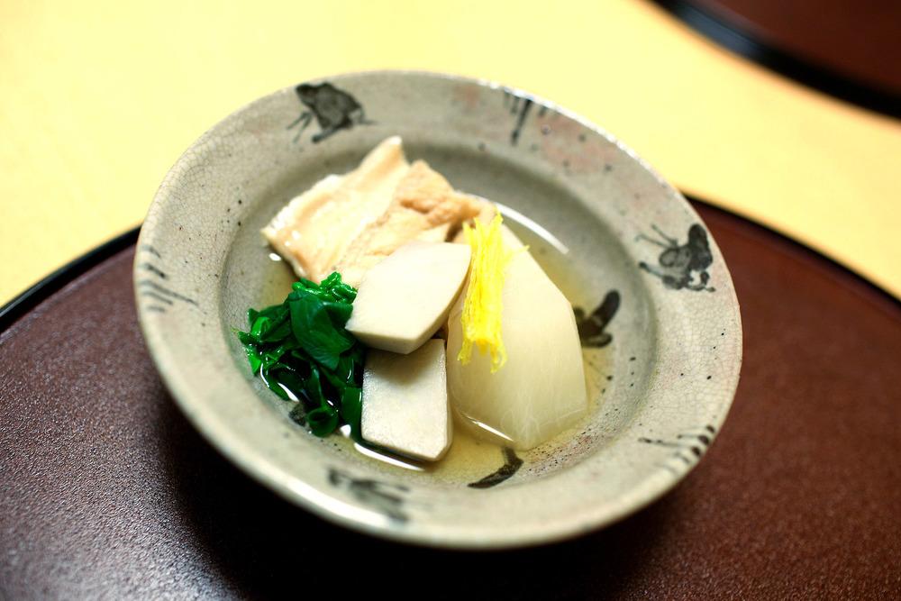 Koju, Tokyo - Turnip, sea eel, and taro