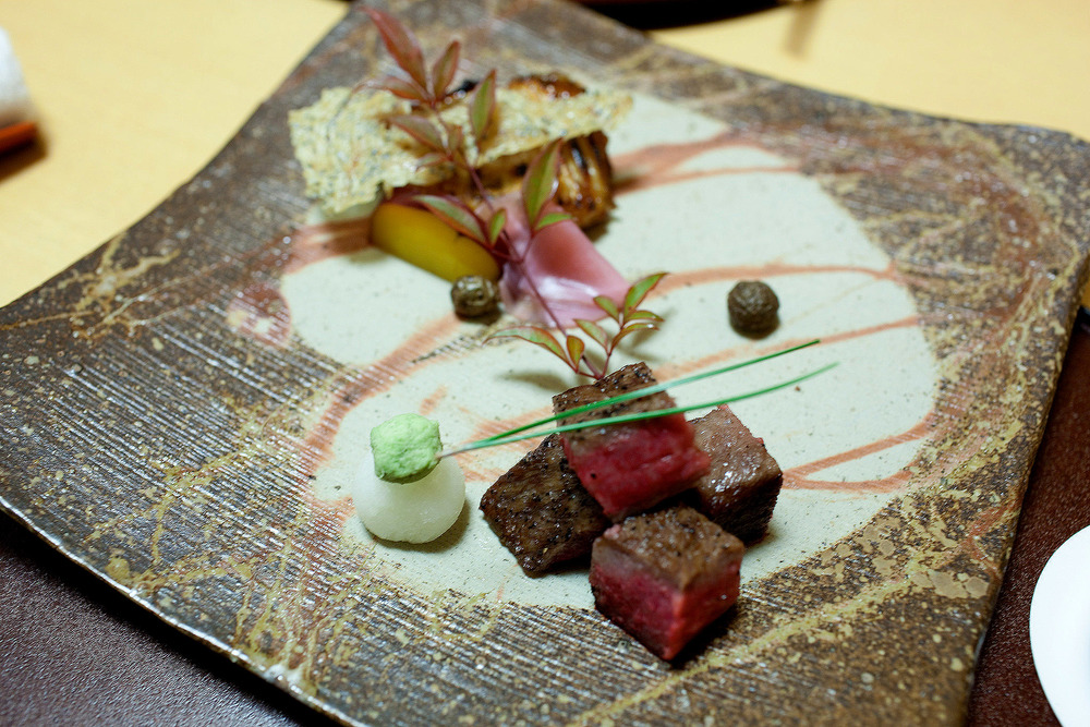 Koju, Tokyo - Grilled Japanese beef and Japanese Spanish mackerel