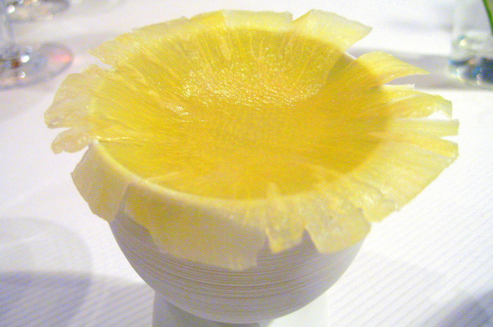 Pierre Gagnaire, Paris - Lemon sorbet, lemon confit, shaved pineapple