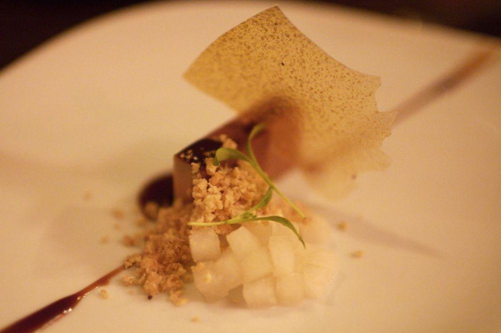 Foie Gras, Peanut Butter, Cocoa, Pear